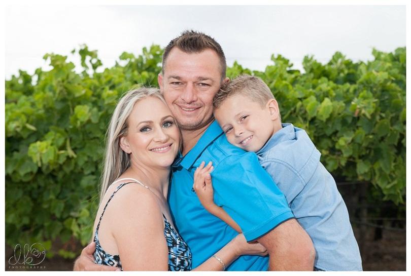 Willem, Yvette en Wianro Gesinsfoto's